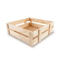 Caja madera cuadrada 30x30x10
