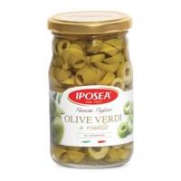 Aceituna verde Troceada Iposea frasco 314 ml