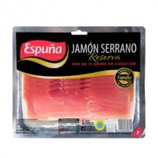 Jamón Serrano lonja Espuña paquete 120 gr