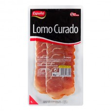 Jamón cerdo curado lonja Espuña paquete 80 u