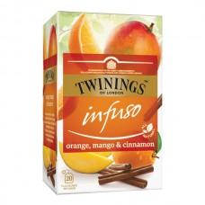 Té Infuso Naranja Mango y Canela Twinings 20 bolsas