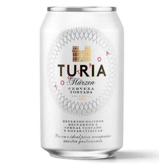 Cerveza Tostada Turia Lata 330 ml