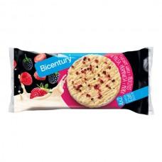 Tortitas de Arroz Bañadas en Chocolate Blanco Con Frutos Rojos Bicentury 4 uds 131.2 gr