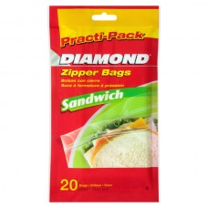 Bolsa Resellable para Sandwich Practi-Pack 20 Bolsas Diamond