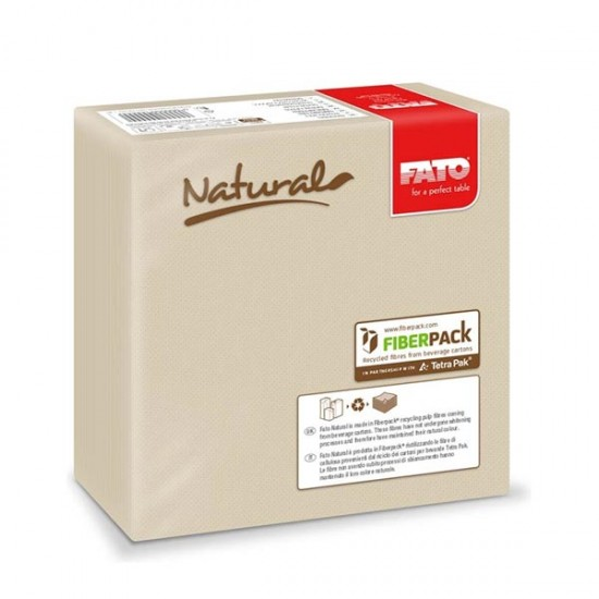 Servilleta Fato Eco Natural 38x38cm 40un