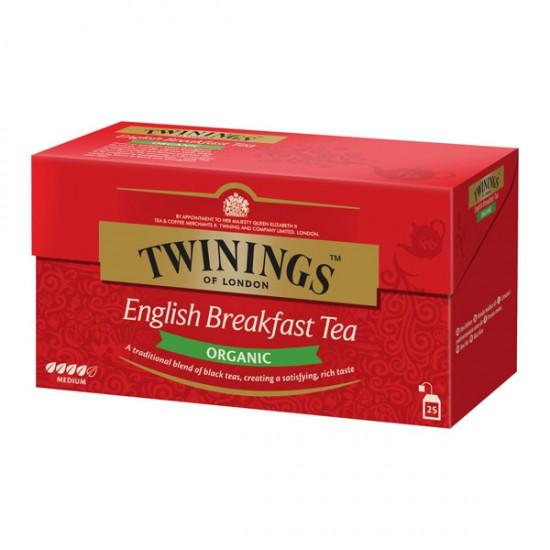 Té orgánico English Breakfast Twinings 25 bolsas
