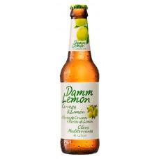 Cerveza Lager Lemon Damm Botella 330 ml