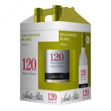 4 PK Vino Santa Rita 120 Reserva Blanco Sauvignon Blanc 187 ml