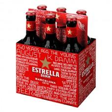 Cerveza Lager Estrella Damm Botella 6 Pack 330 ml